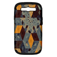 Apophysis Isometric Tessellation Orange Cube Fractal Triangle Samsung Galaxy S Iii Hardshell Case (pc+silicone) by Mariart