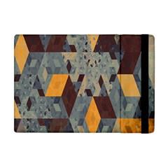 Apophysis Isometric Tessellation Orange Cube Fractal Triangle Apple Ipad Mini Flip Case by Mariart