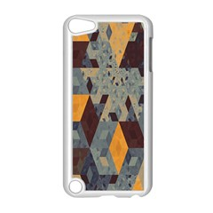 Apophysis Isometric Tessellation Orange Cube Fractal Triangle Apple Ipod Touch 5 Case (white) by Mariart