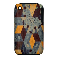 Apophysis Isometric Tessellation Orange Cube Fractal Triangle Iphone 3s/3gs by Mariart