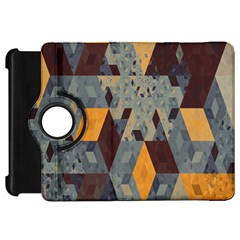 Apophysis Isometric Tessellation Orange Cube Fractal Triangle Kindle Fire Hd 7  by Mariart