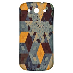 Apophysis Isometric Tessellation Orange Cube Fractal Triangle Samsung Galaxy S3 S Iii Classic Hardshell Back Case by Mariart