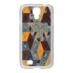 Apophysis Isometric Tessellation Orange Cube Fractal Triangle Samsung Galaxy S4 I9500/ I9505 Case (white) by Mariart