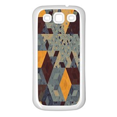 Apophysis Isometric Tessellation Orange Cube Fractal Triangle Samsung Galaxy S3 Back Case (white) by Mariart