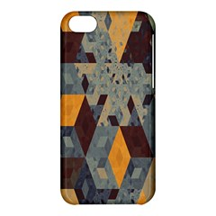 Apophysis Isometric Tessellation Orange Cube Fractal Triangle Apple Iphone 5c Hardshell Case by Mariart
