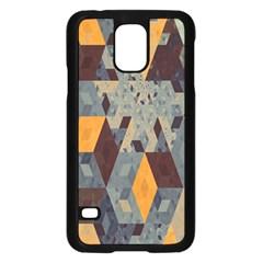 Apophysis Isometric Tessellation Orange Cube Fractal Triangle Samsung Galaxy S5 Case (black) by Mariart