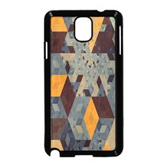 Apophysis Isometric Tessellation Orange Cube Fractal Triangle Samsung Galaxy Note 3 Neo Hardshell Case (black) by Mariart