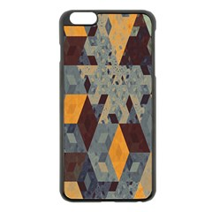 Apophysis Isometric Tessellation Orange Cube Fractal Triangle Apple Iphone 6 Plus/6s Plus Black Enamel Case by Mariart
