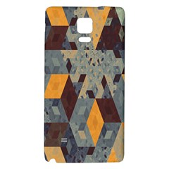 Apophysis Isometric Tessellation Orange Cube Fractal Triangle Galaxy Note 4 Back Case by Mariart
