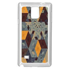 Apophysis Isometric Tessellation Orange Cube Fractal Triangle Samsung Galaxy Note 4 Case (white) by Mariart