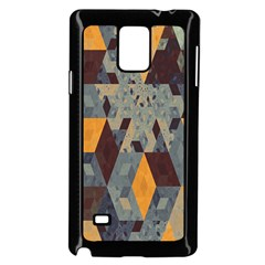 Apophysis Isometric Tessellation Orange Cube Fractal Triangle Samsung Galaxy Note 4 Case (black) by Mariart