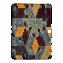 Apophysis Isometric Tessellation Orange Cube Fractal Triangle Samsung Galaxy Tab 4 (10 1 ) Hardshell Case  by Mariart