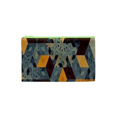 Apophysis Isometric Tessellation Orange Cube Fractal Triangle Cosmetic Bag (xs) by Mariart
