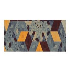 Apophysis Isometric Tessellation Orange Cube Fractal Triangle Satin Wrap by Mariart