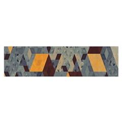 Apophysis Isometric Tessellation Orange Cube Fractal Triangle Satin Scarf (oblong) by Mariart