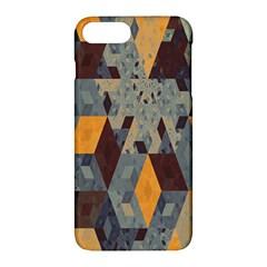 Apophysis Isometric Tessellation Orange Cube Fractal Triangle Apple Iphone 7 Plus Hardshell Case by Mariart