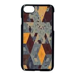 Apophysis Isometric Tessellation Orange Cube Fractal Triangle Apple Iphone 7 Seamless Case (black) by Mariart