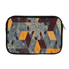 Apophysis Isometric Tessellation Orange Cube Fractal Triangle Apple Macbook Pro 17  Zipper Case by Mariart