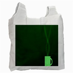 Mug Green Hot Tea Coffe Recycle Bag (two Side)  by Mariart
