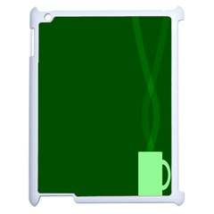 Mug Green Hot Tea Coffe Apple Ipad 2 Case (white) by Mariart