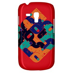 Plaid Red Sign Orange Blue Galaxy S3 Mini by Mariart