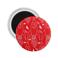 Moon Red Rocket Space 2 25  Magnets by Mariart