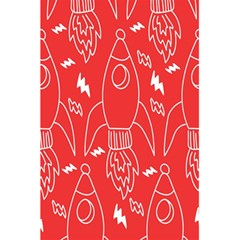 Moon Red Rocket Space 5 5  X 8 5  Notebooks by Mariart