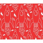 Moon Red Rocket Space Deluxe Canvas 14  x 11  14  x 11  x 1.5  Stretched Canvas