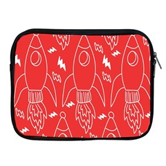 Moon Red Rocket Space Apple Ipad 2/3/4 Zipper Cases by Mariart