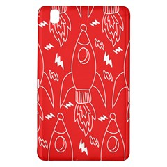 Moon Red Rocket Space Samsung Galaxy Tab Pro 8 4 Hardshell Case by Mariart