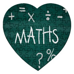 Maths School Multiplication Additional Shares Jigsaw Puzzle (heart) by Mariart