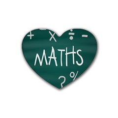 Maths School Multiplication Additional Shares Rubber Coaster (heart)  by Mariart