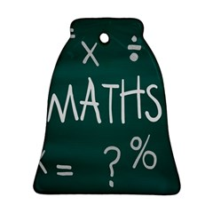 Maths School Multiplication Additional Shares Bell Ornament (two Sides) by Mariart