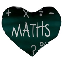 Maths School Multiplication Additional Shares Large 19  Premium Heart Shape Cushions by Mariart