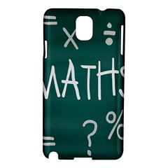 Maths School Multiplication Additional Shares Samsung Galaxy Note 3 N9005 Hardshell Case by Mariart