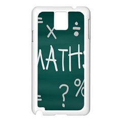 Maths School Multiplication Additional Shares Samsung Galaxy Note 3 N9005 Case (white) by Mariart
