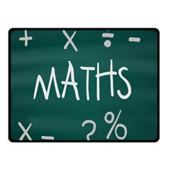 Maths School Multiplication Additional Shares Double Sided Fleece Blanket (small)  by Mariart