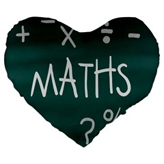 Maths School Multiplication Additional Shares Large 19  Premium Flano Heart Shape Cushions by Mariart