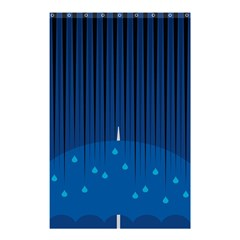 Rain Blue Sky Water Black Line Shower Curtain 48  X 72  (small)  by Mariart