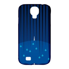 Rain Blue Sky Water Black Line Samsung Galaxy S4 Classic Hardshell Case (pc+silicone) by Mariart