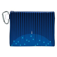 Rain Blue Sky Water Black Line Canvas Cosmetic Bag (xxl) by Mariart