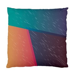 Modern Minimalist Abstract Colorful Vintage Adobe Illustrator Blue Red Orange Pink Purple Rainbow Standard Cushion Case (two Sides) by Mariart