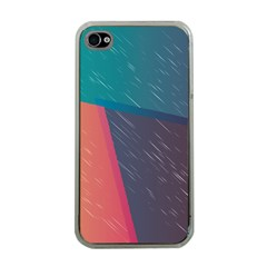 Modern Minimalist Abstract Colorful Vintage Adobe Illustrator Blue Red Orange Pink Purple Rainbow Apple Iphone 4 Case (clear) by Mariart