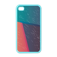 Modern Minimalist Abstract Colorful Vintage Adobe Illustrator Blue Red Orange Pink Purple Rainbow Apple Iphone 4 Case (color) by Mariart