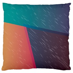 Modern Minimalist Abstract Colorful Vintage Adobe Illustrator Blue Red Orange Pink Purple Rainbow Large Cushion Case (two Sides) by Mariart
