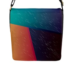 Modern Minimalist Abstract Colorful Vintage Adobe Illustrator Blue Red Orange Pink Purple Rainbow Flap Messenger Bag (l)  by Mariart
