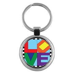 Rainbow Love Key Chains (round)  by Mariart