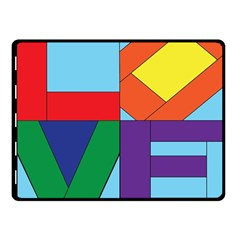 Rainbow Love Fleece Blanket (small) by Mariart