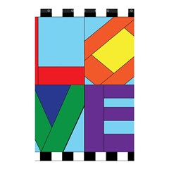 Rainbow Love Shower Curtain 48  X 72  (small)  by Mariart