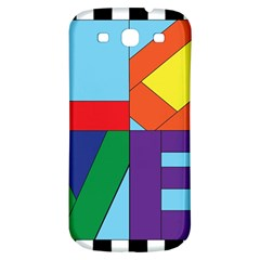 Rainbow Love Samsung Galaxy S3 S Iii Classic Hardshell Back Case by Mariart